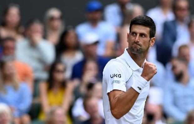 Wimbledon - Novak Djokovic evenaart met twintig grandslamtitels recordhouders Federer en Nadal