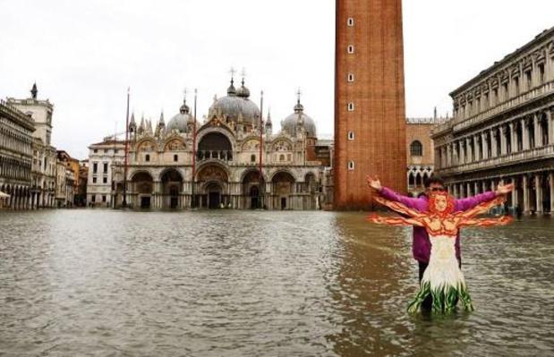Venetië staat onder water na hevige regenval