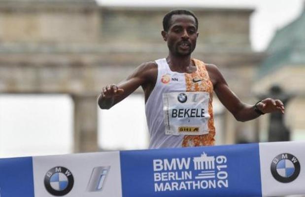 Kenenisa Bekele remporte le marathon de Berlin et passe à côté du record du monde