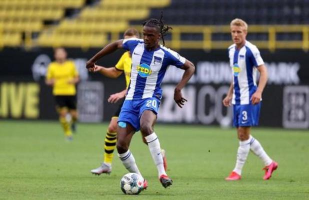 Dedryck Boyata (Hertha Berlin) suspendu un match après sa carte rouge contre Francfort