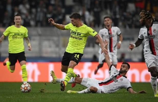 Champions League - Dortmund klopt Besiktas na assist van Meunier, debutant Sheriff Tiraspol verslaat Shakhtar