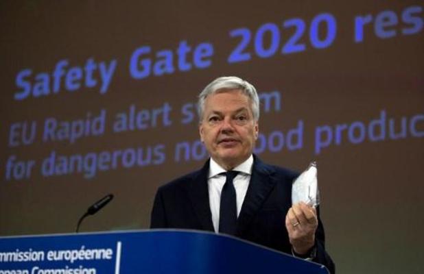 Steeds meer interventies na meldingen over gevaarlijke producten in EU
