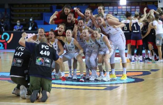 Euro de basket féminin - Quarts de finale - Belgique / Russie 85-83 - Fiche technique