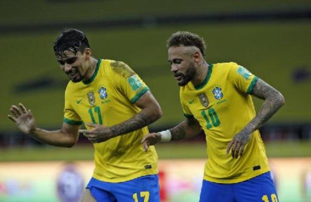 Kwal. WK 2022 - Brazilië blijft ongeslagen na 2-0 zege tegen Ecuador