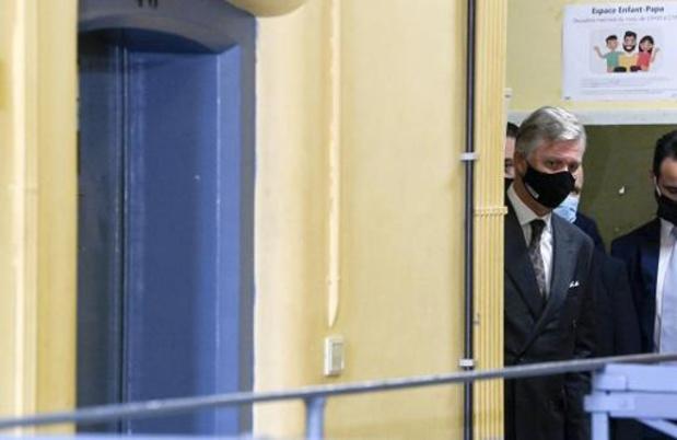 Le roi Philippe s'est rendu à la prison de Huy pour une visite de travail