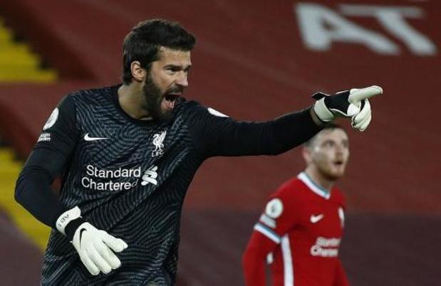 Liverpool devra se passer de son gardien Alisson Becker pendant 4 à 6 semaines