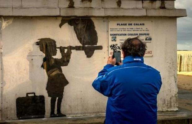 Mogelijk nieuwe muurschildering Banksy opgedoken in Bristol