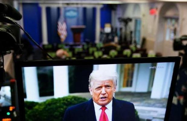 """Insurrection à Washington - Trump se dit """"scandalisé par la violence"""" au Capitole et appelle à la """"réconciliation"""""""