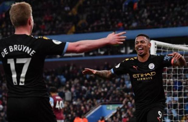 Belgen in het buitenland - De Bruyne helpt City met twee assists aan ruime zege bij Aston Villa