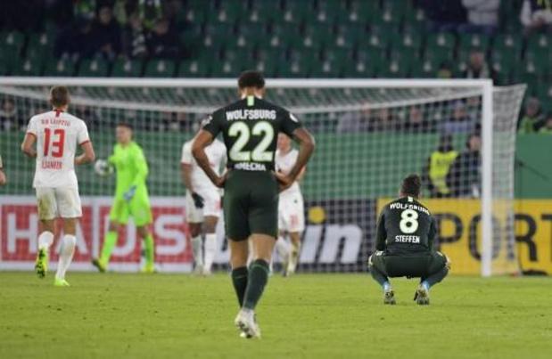 Coupe d'Allemagne - Invaincu jusqu'ici, Wolfsburg subit une lourde défaite 1-6 contre Leipzig