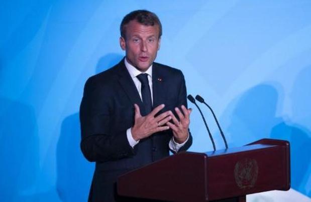 Macron kritisch over Thunberg na klacht tegen Frankrijk