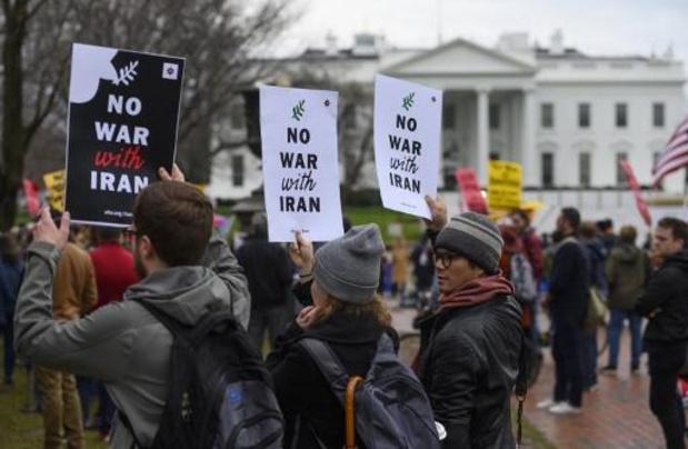 """Raid américain à Bagdad - """"Pas de guerre contre l'Iran"""": des manifestants défilent aux Etats-Unis"""