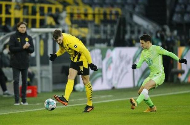 Dortmund, met Witsel en Meunier, slaat het Wolfsburg van Casteels terug
