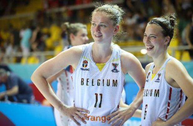 Emma Meesseman et Antonia Delaere heureuses d'avoir montré le vrai jeu des Belgian Cats