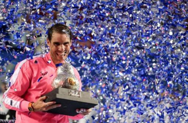 Nadal roept Spaanse sporters op samen 11 miljoen in te zamelen