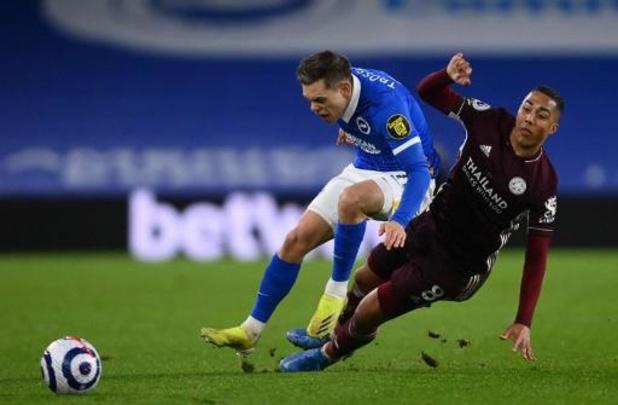 Les Belges à l'étranger - Leicester s'impose à Brighton et retrouve la deuxième place