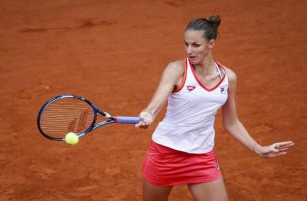 Karolina Pliskova a lutté avant de franchir le premier tour