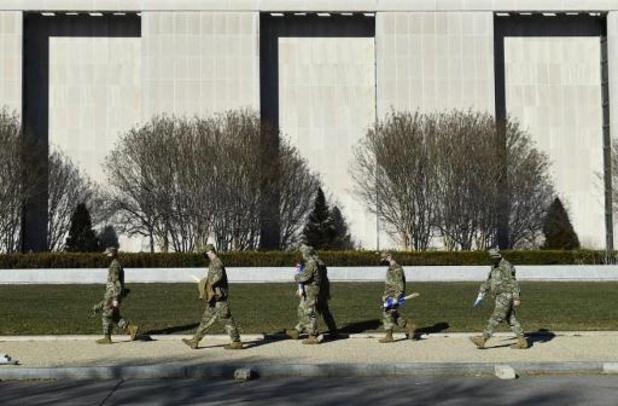 Troepen Nationale Garde Washington sliepen in garage, politici boos