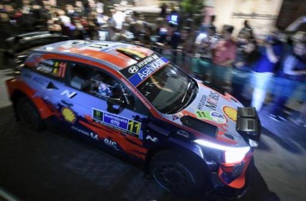 Thierry Neuville (Hyundai) en tête après la 1re journée du Rallye du Mexique