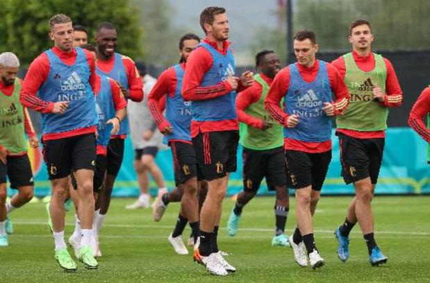Rode Duivels - Geen Boyata op laatste training voor Kroatië, Witsel en Eden Hazard wel op oefenveld