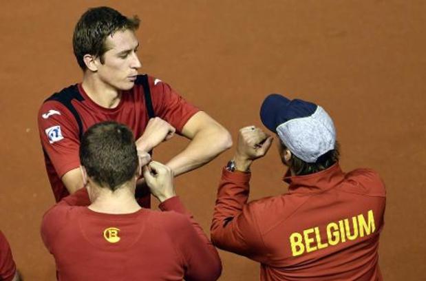 Davis Cup - Kimmer Coppejans verliest driesetter, Hongarije en België staan gelijk