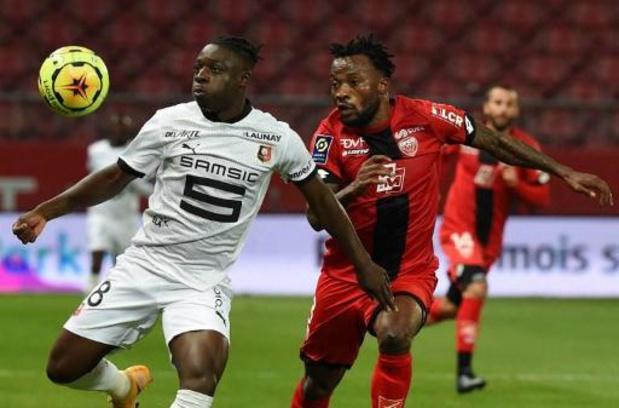 Les Belges à l'étranger - Jérémy Doku a effectué ses débuts avec Rennes, qui se contente d'un match nul à Dijon