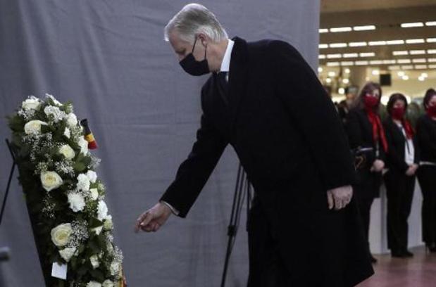 Ingetogen herdenkingsmoment op Brussels Airport