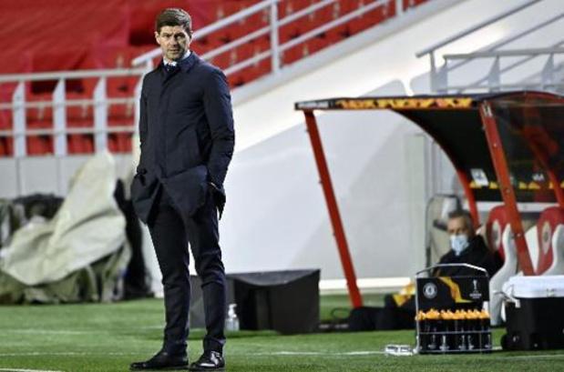 """Europa League - Gerrard is ondanks zege niet helemaal tevreden: """"Verdedigend ging er veel mis"""""""