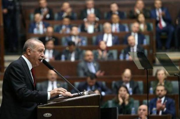 Nog steeds Koerdische strijders in grenszone, zegt Erdogan