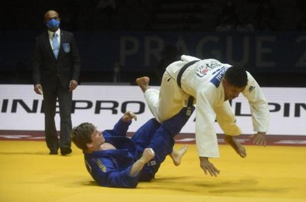 Combat pour le bronze entre Matthias Casse et Sami Chouchi à Tachkent