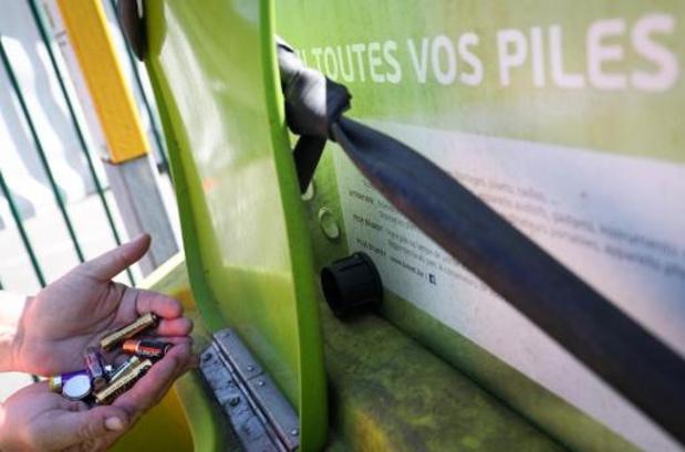 Nouveau record de piles collectées l'année dernière en Belgique