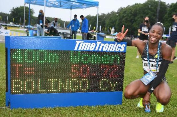 """Nuit de l'Athlétisme - Cynthia Bolingo: """"Je voulais bien courir mais je ne visais pas un nouveau record à Heuden"""""""