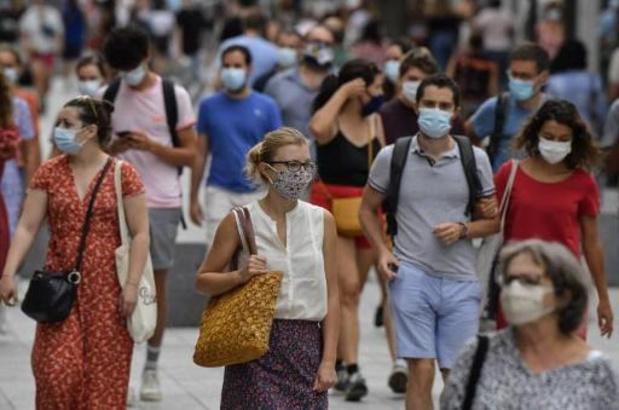 Meer dan 5.000 nieuwe coronagevallen op 24 uur in Frankrijk