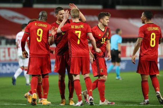 Rode Duivels in poule met Wales, Tsjechië, Wit-Rusland en Estland