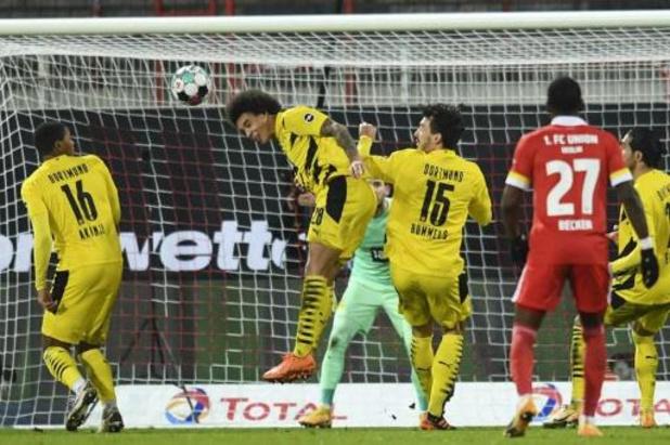 Les Belges à l'étranger - Dortmund, avec Meunier et Witsel, battu à l'Union Berlin