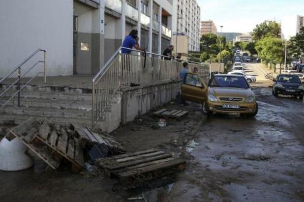 Hoofdstad van Corsica getroffen door onweersbuien en zware regenval