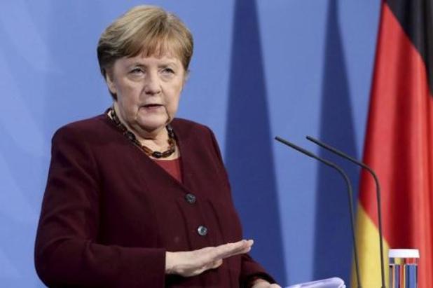 Merkel veut prolonger les restrictions en Allemagne en avril