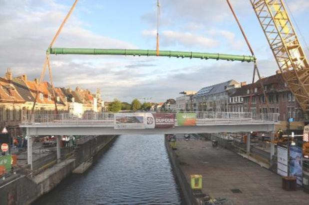 Le pont Notre-Dame s'est affaissé lors d'un essai à Tournai