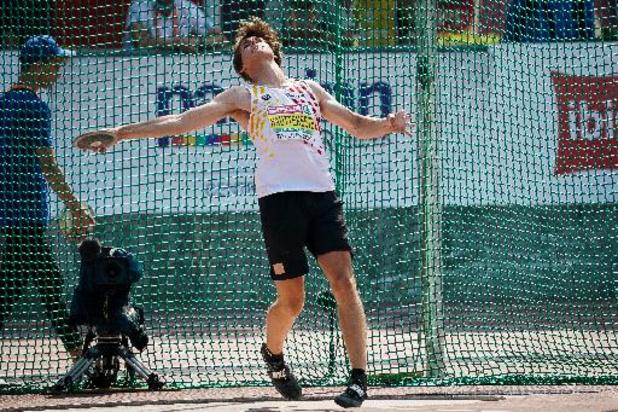 Jente Hauttekeete n'a plus que 50 points d'avance dans le décathlon après huit épreuves