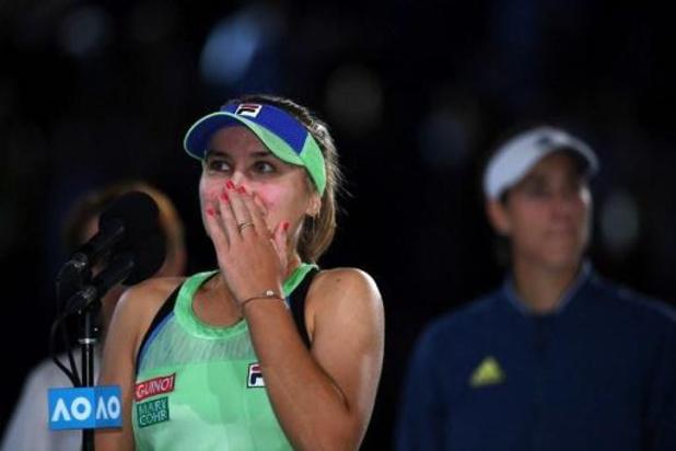Sofia Kenin is dolgelukkig met eerste grandslamzege op Australian Open