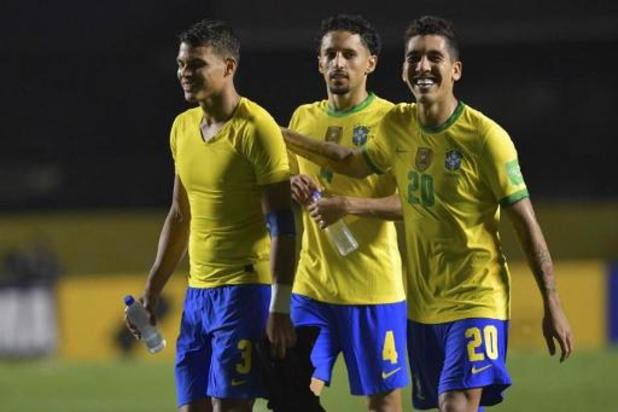 Kwal. WK 2022 - Brazilië boekt zonder Neymar zuinige zege tegen Venezuela