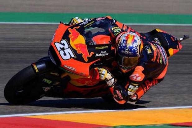 Barry Baltus 16e du Grand Prix d'Aragon Moto2, victoire de Raul Fernandez