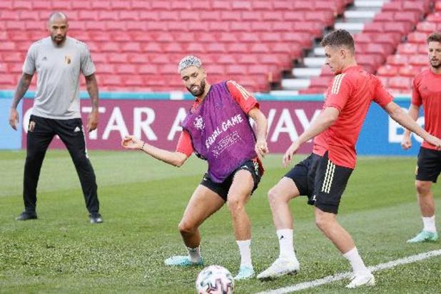 Thorgan Hazard de retour à l'entraînement, les titulaires au repos