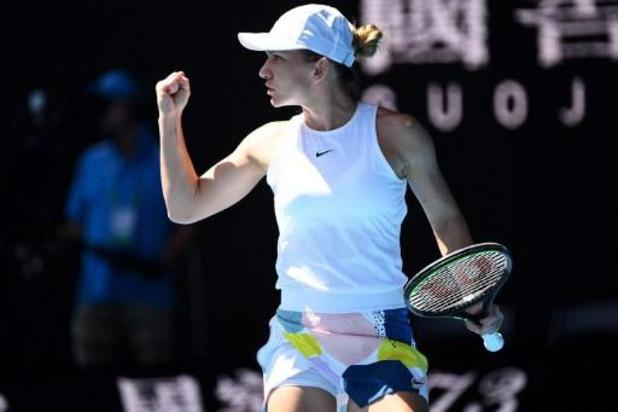 Australian Open - Simona Halep op een drafje naar halve finales