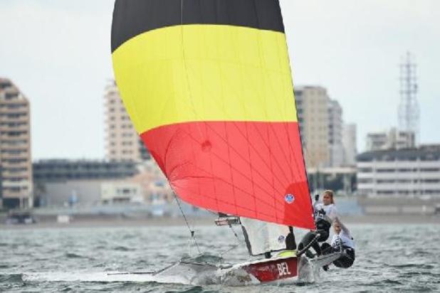 Les Belges Maenhaut et Geurts 3es de la seconde régate en skiff 49er FX dames