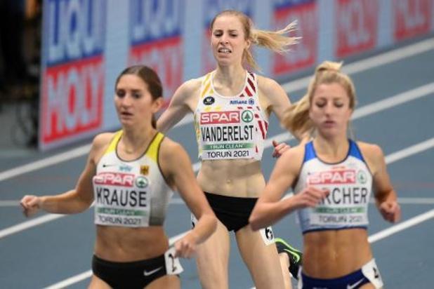 Elise Vanderelst en finale du 1500 m, Lindsey De Gande éliminée en séries