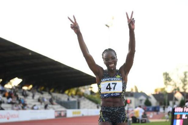 Atletiekmeeting Montreuil - Cynthia Bolingo verpulvert BR van Kim Gevaert op 400 meter en plaatst zich voor Tokio