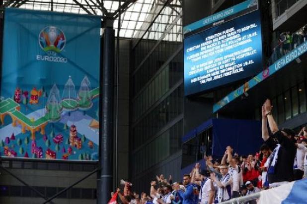 Euro 2020: le Danemark annule son entraînement dimanche et suspens ses activités médiatiques