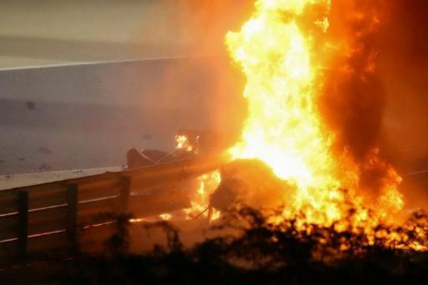 """Grosjean """"zag de dood in de ogen"""" tijdens Grand Prix van Bahrein"""