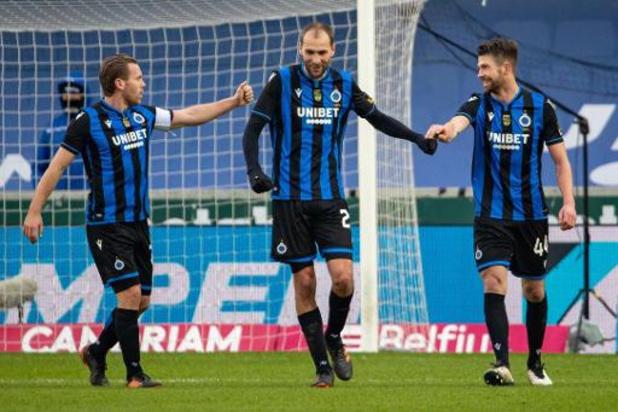 Club Brugge/Standard en Anderlecht/Gent kleuren affiche 23e speeldag